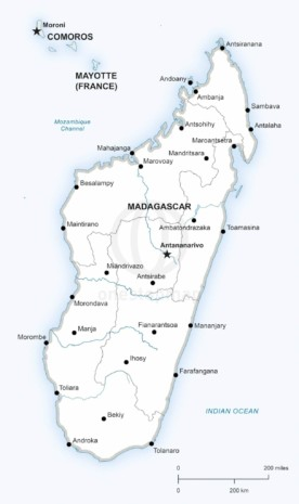 Map of Madagascar political