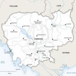 Map of Cambodia political