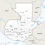 Map of Guatemala political