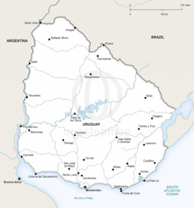 Map of Uruguay political