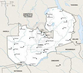 Map of Zambia political