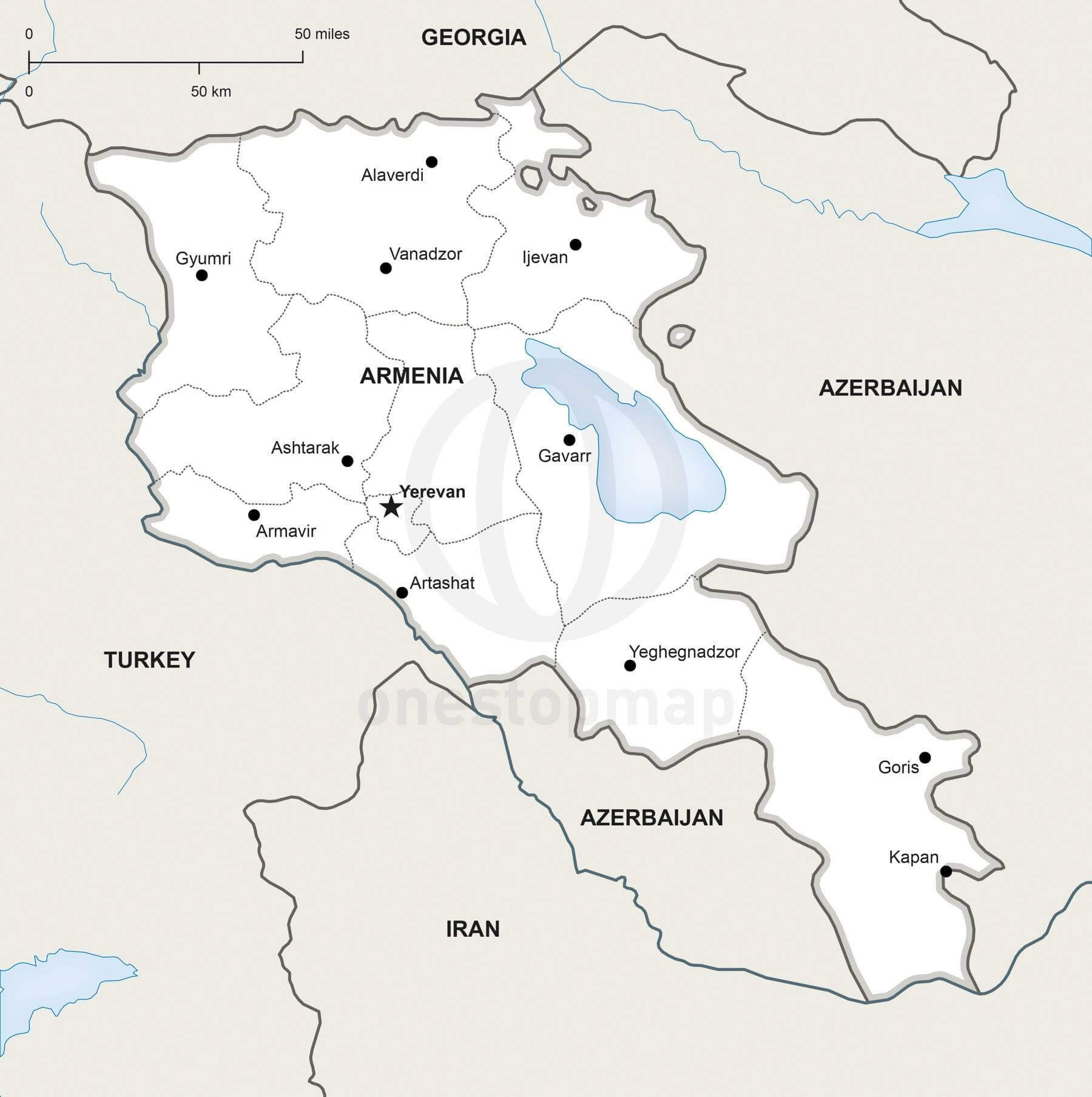 Map of Armenia political