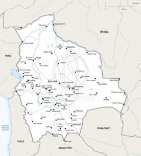 Map of Bolivia political
