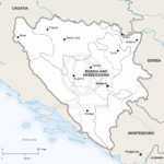 Map of Bosnia and Herzegovina political