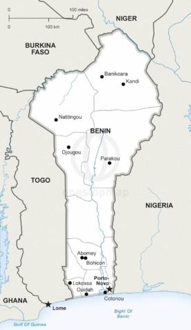 Map of Benin political