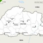 Map of Bhutan political