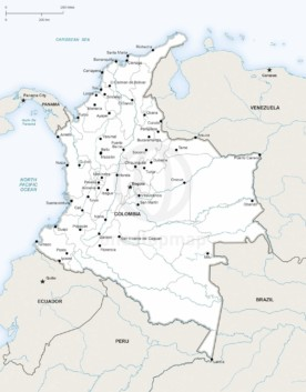 Map of Colombia political