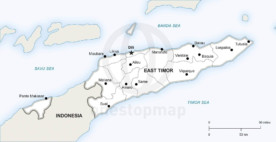 Map of East Timor political