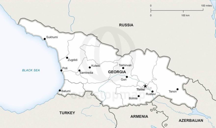 Map of Georgia political