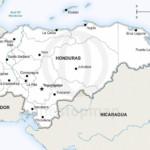 Vector map of Honduras political