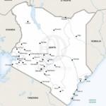 Map of Kenya political