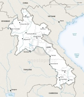 Map of Laos political