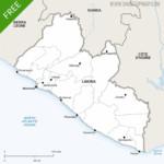 Map of Liberia political