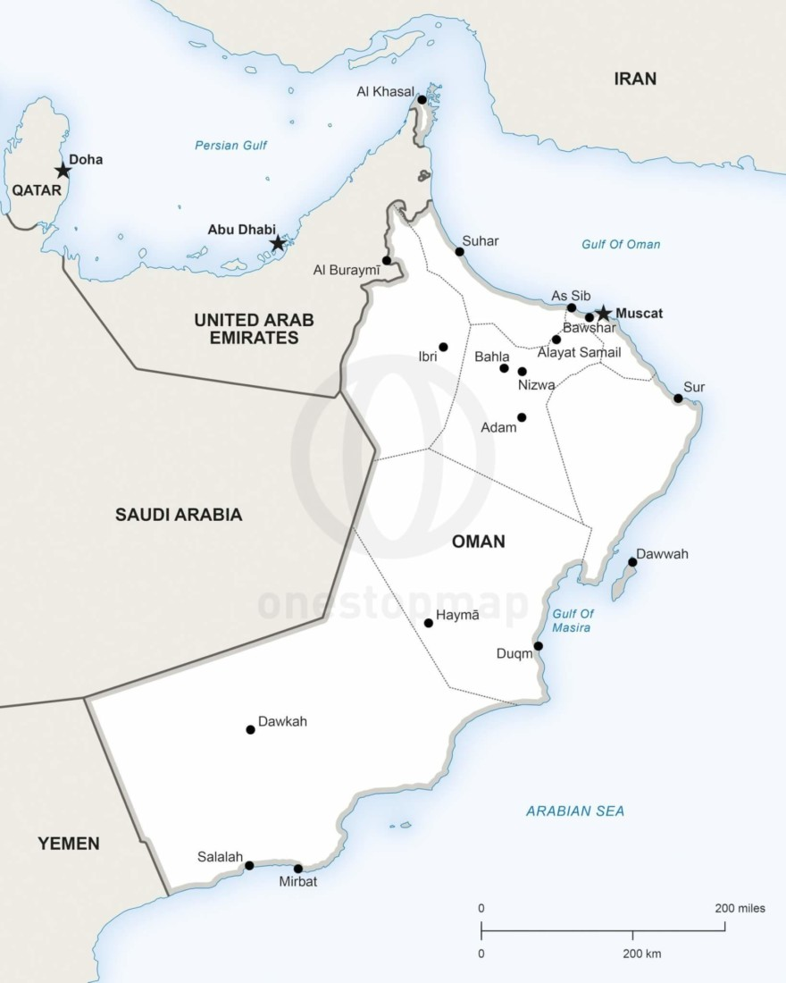 Map of Oman political