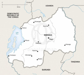 Map of Rwanda political