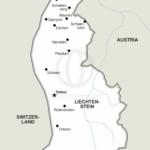 Vector map of Liechtenstein political