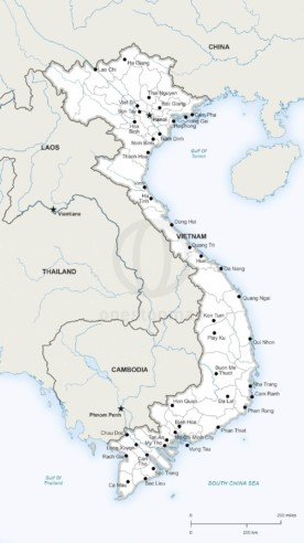 Vector map of Vietnam political