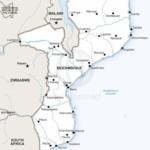 Vector map of Mozambique political