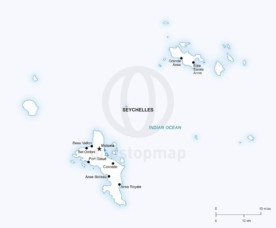 Vector map of Seychelles political