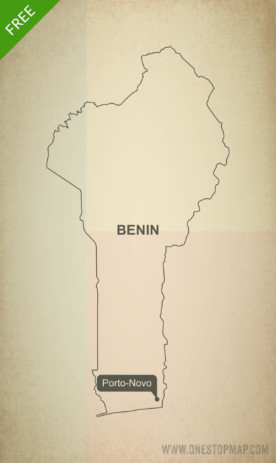 Free vector map of Benin outline
