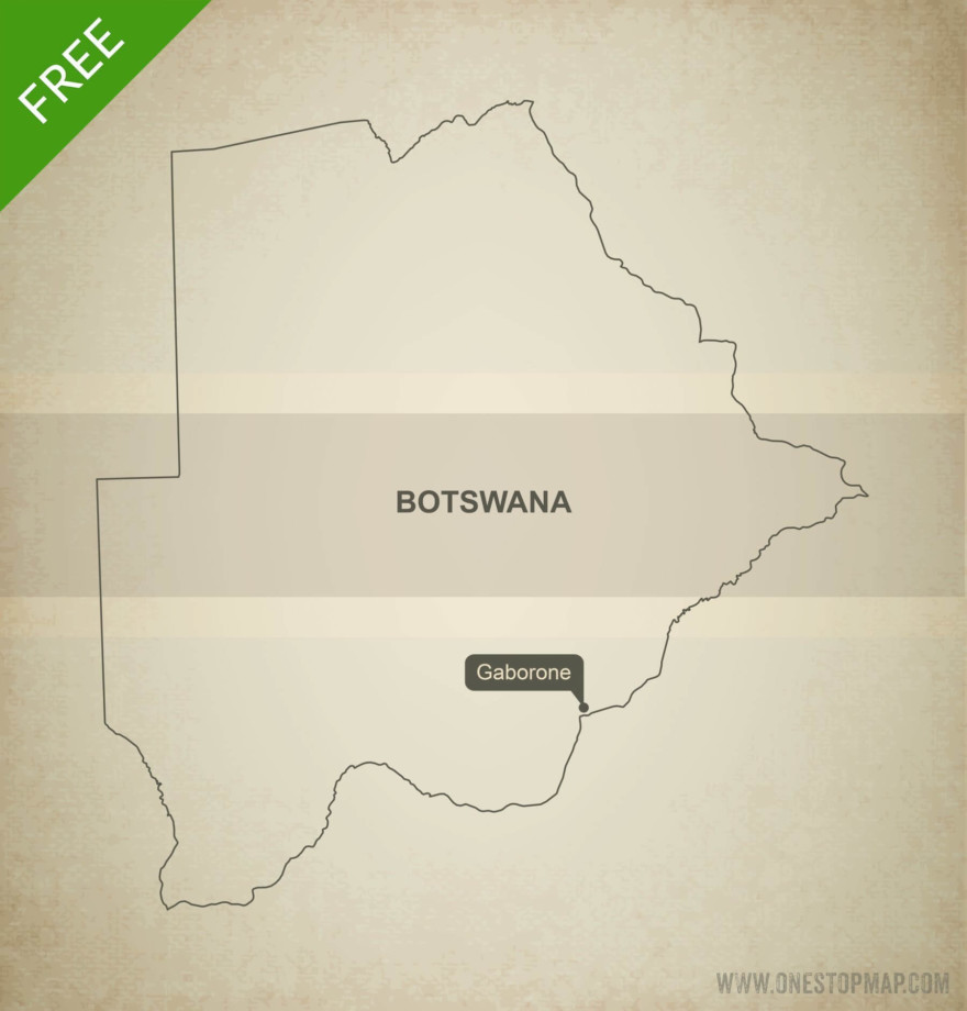 Free vector map of Botswana outline