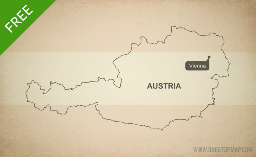Free vector map of Austria outline