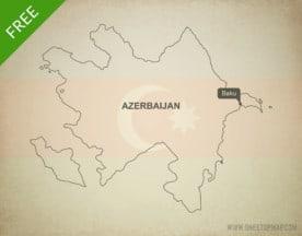 Free vector map of Azerbaijan outline