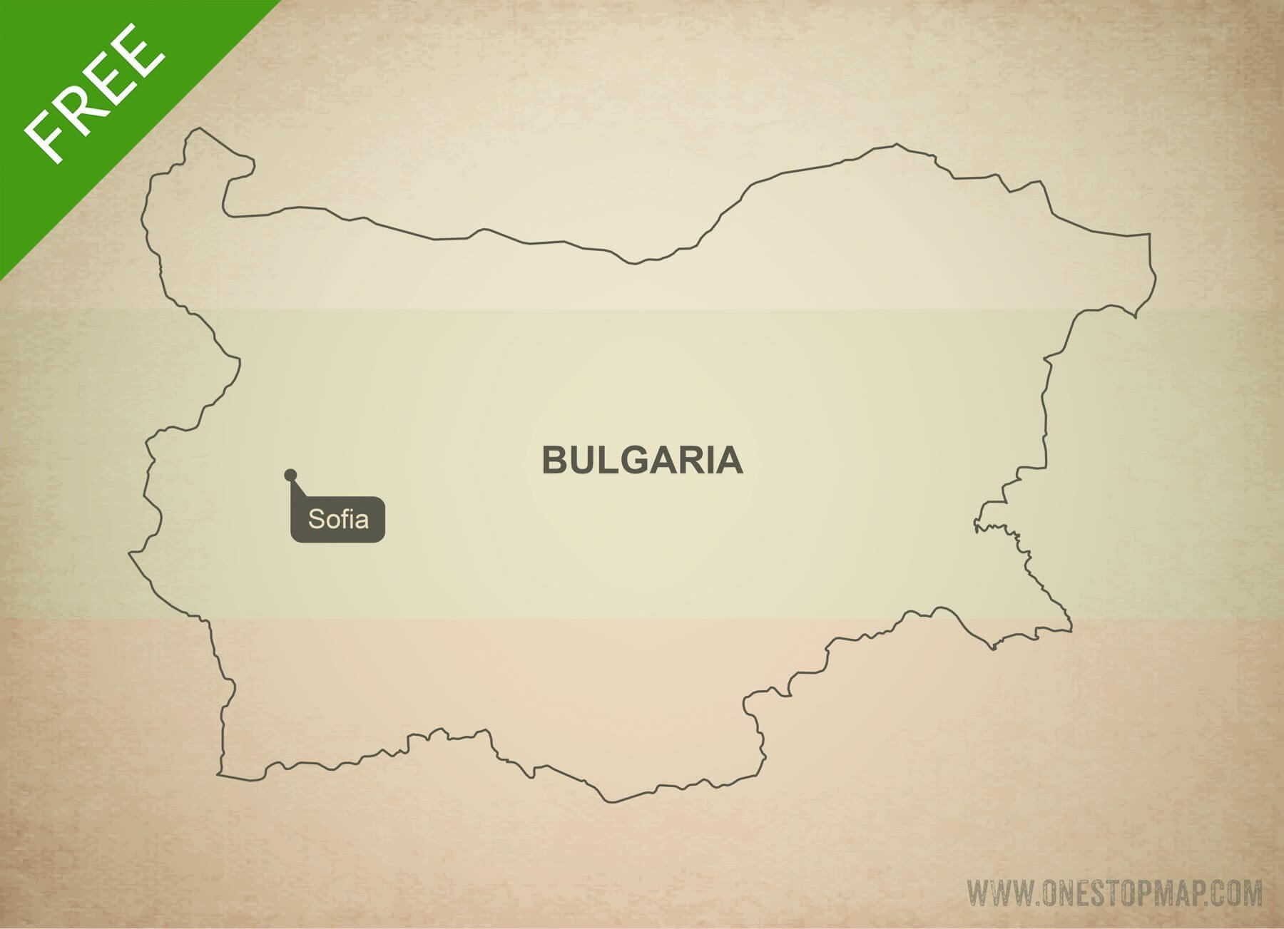 Free vector map of Bulgaria outline