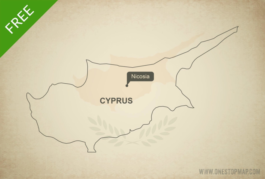 Free vector map of Cyprus outline