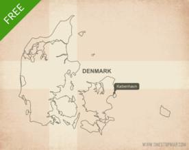 Free vector map of Denmark outline