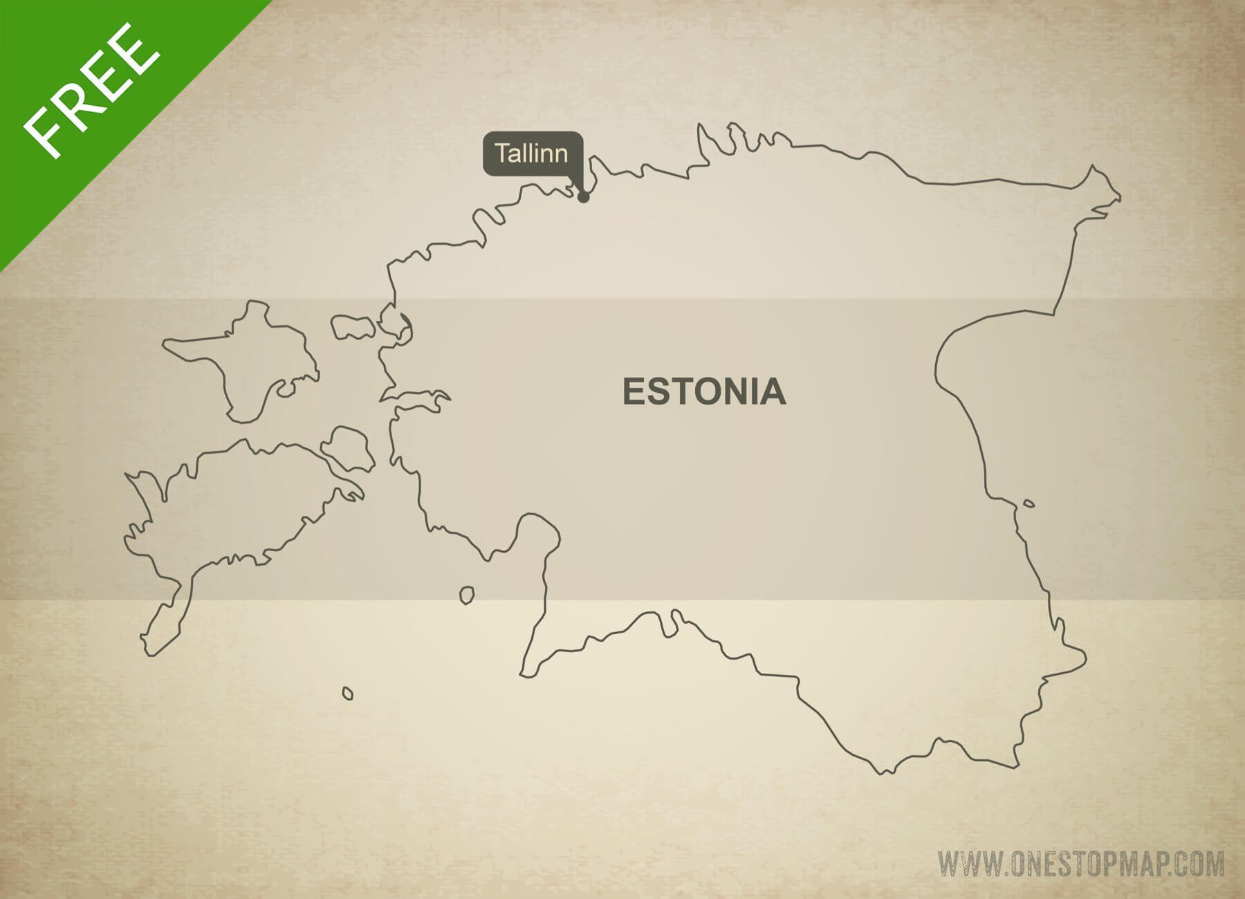 Free vector map of Estonia outline