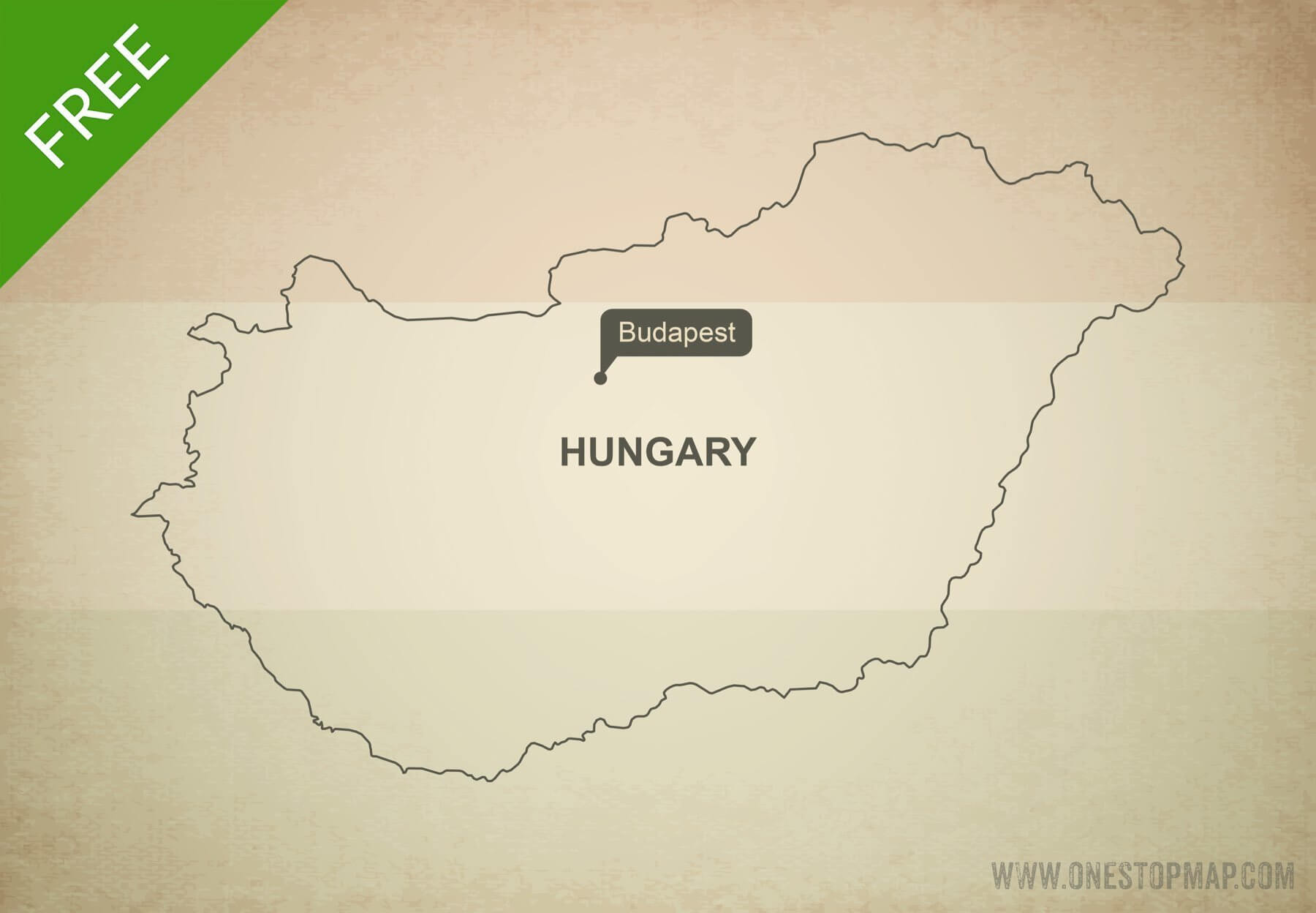 Free vector map of Hungary outline