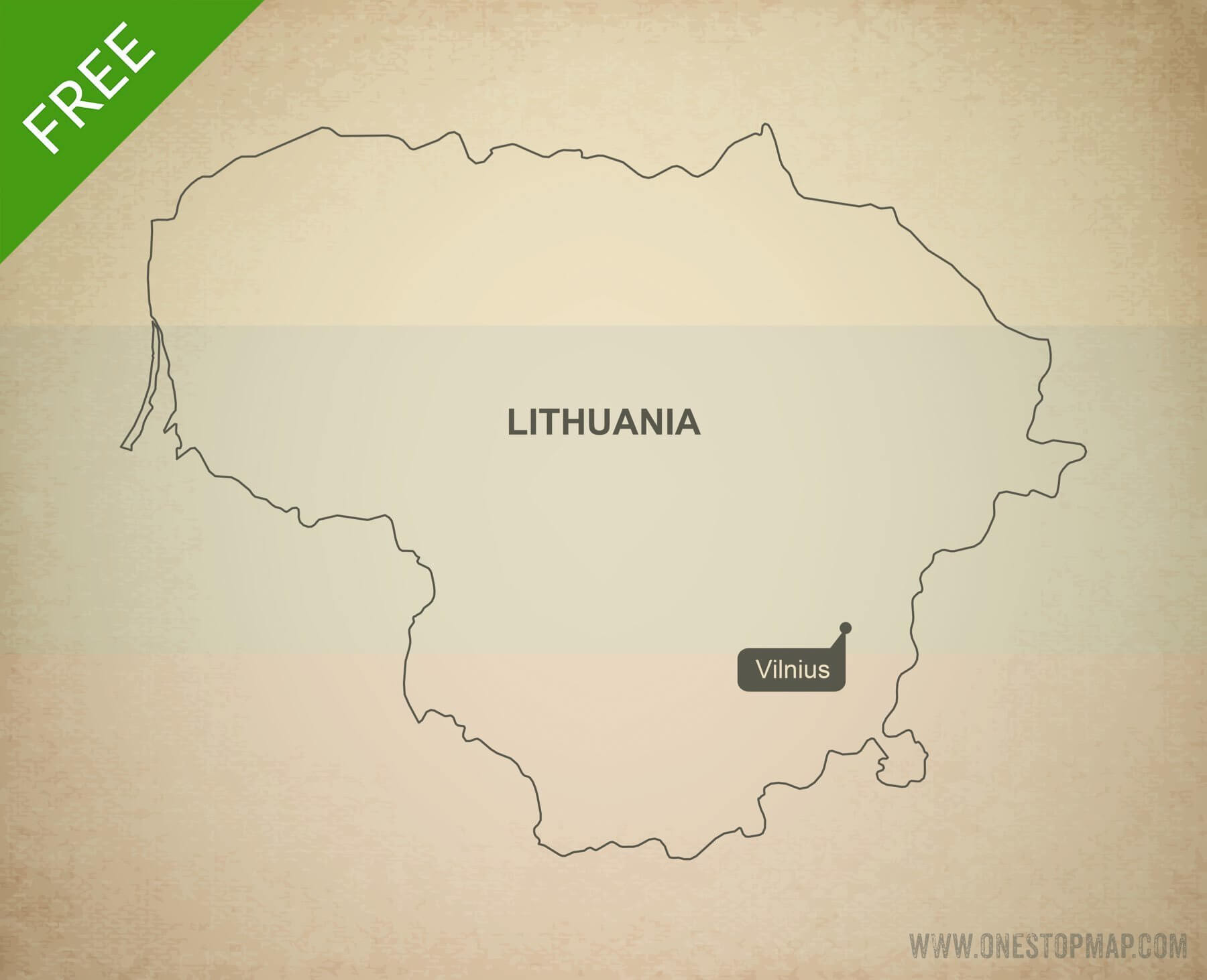 Free vector map of Lithuania outline