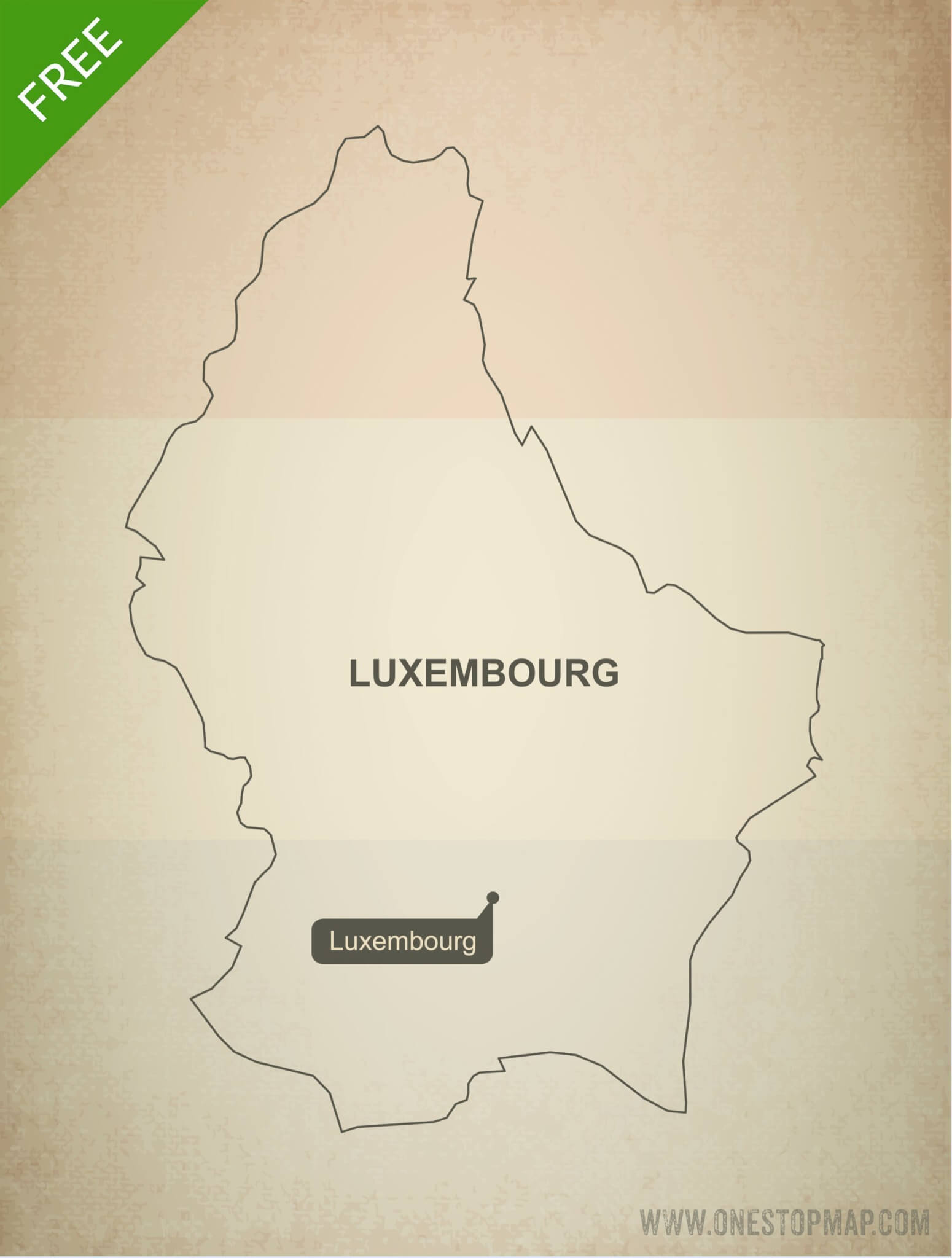 Free vector map of Luxembourg outline