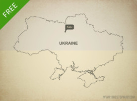 Free vector map of Ukraine outline