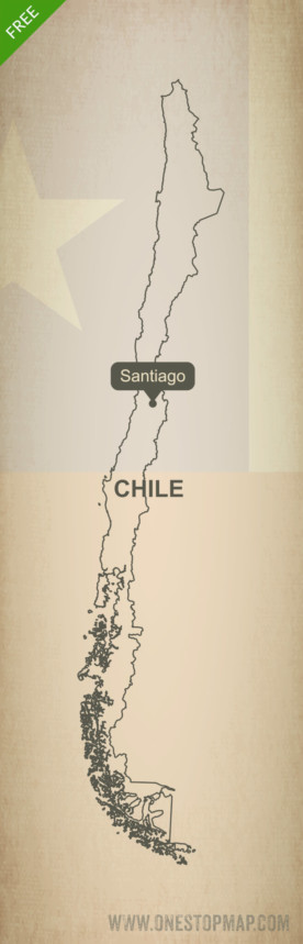 Free vector map of Chile outline