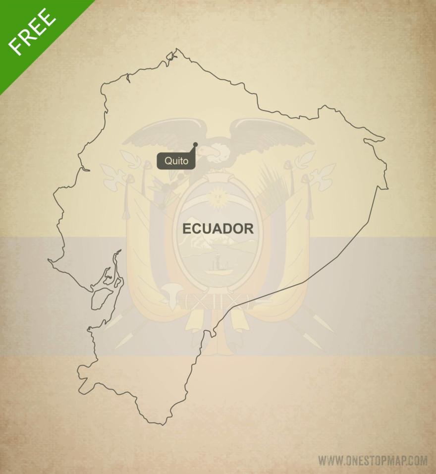Free vector map of Ecuador outline