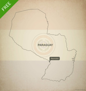 Free vector map of Paraguay outline