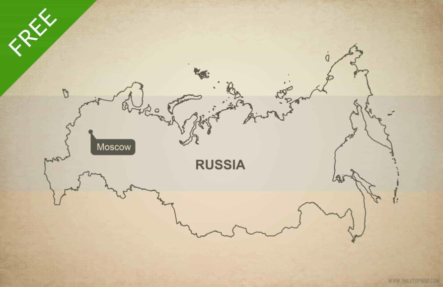 Free vector map of Russia outline