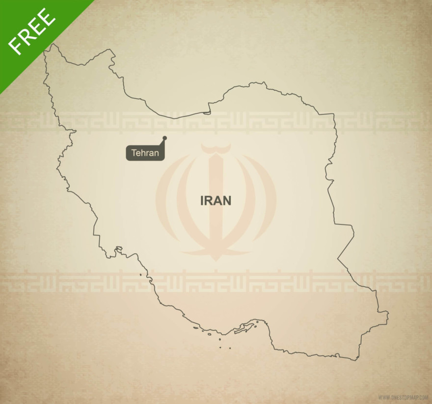 Free vector map of Iran outline