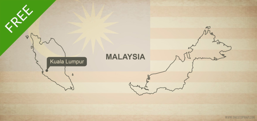 Free vector map of Malaysia outline
