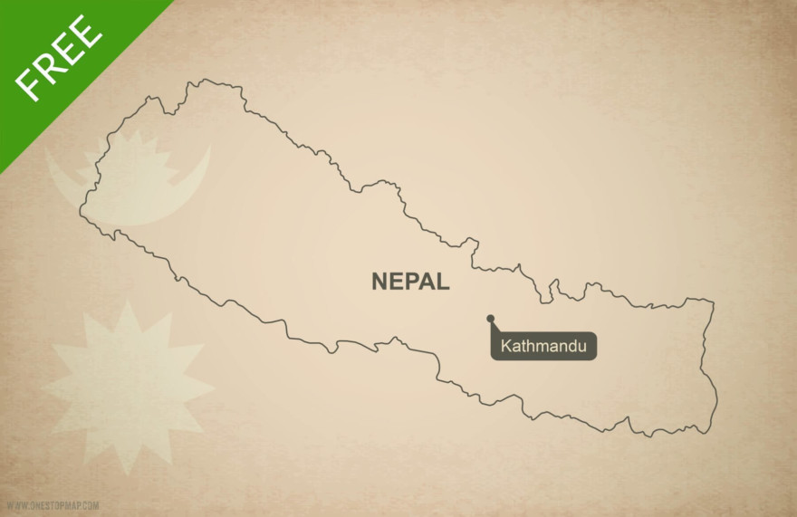 Free vector map of Nepal outline