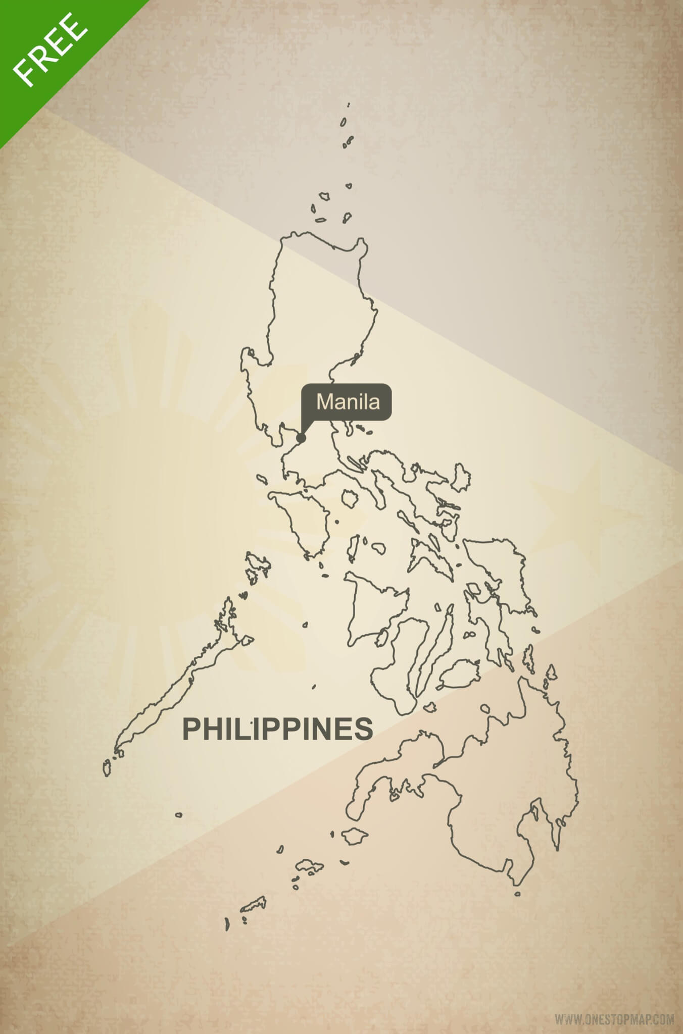 Free vector map of Philippines outline