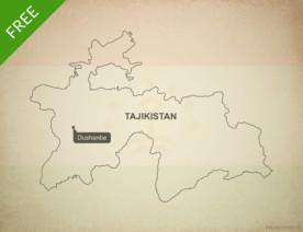 Free vector map of Tajikistan outline