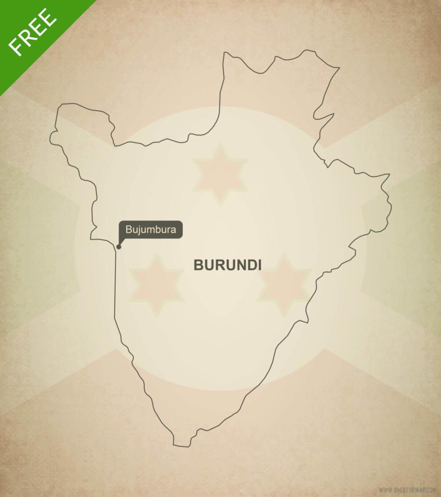 Free vector map of Burundi outline