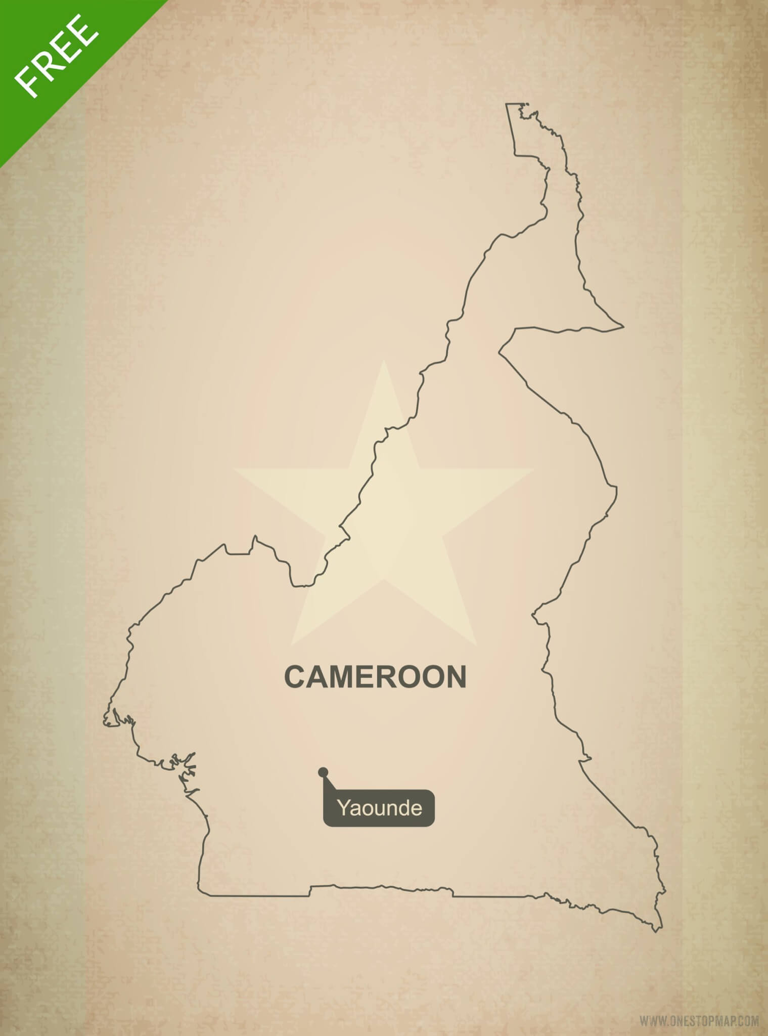 Free vector map of Cameroon outline