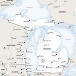 Vector map of Michigan political