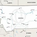 Vector map of Montana political