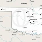 Vector map of Oklahoma political