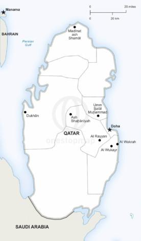 Vector map of Qatar political